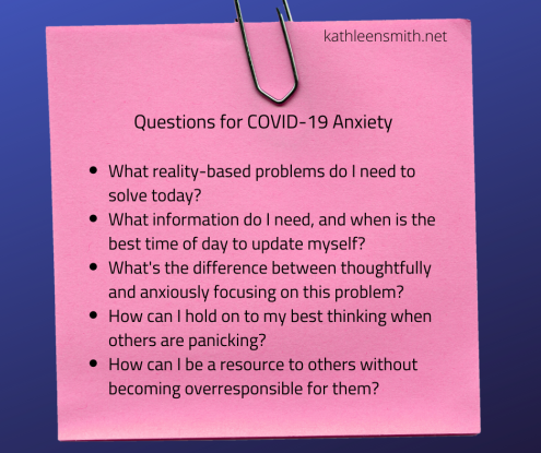 Questions to Help COVID-19 Anxiety